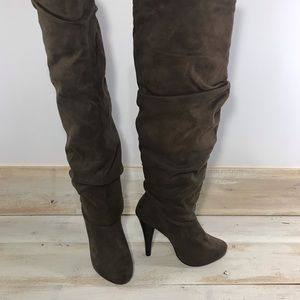 Michael Antonio Brown Over Knee Spike Heeled boots